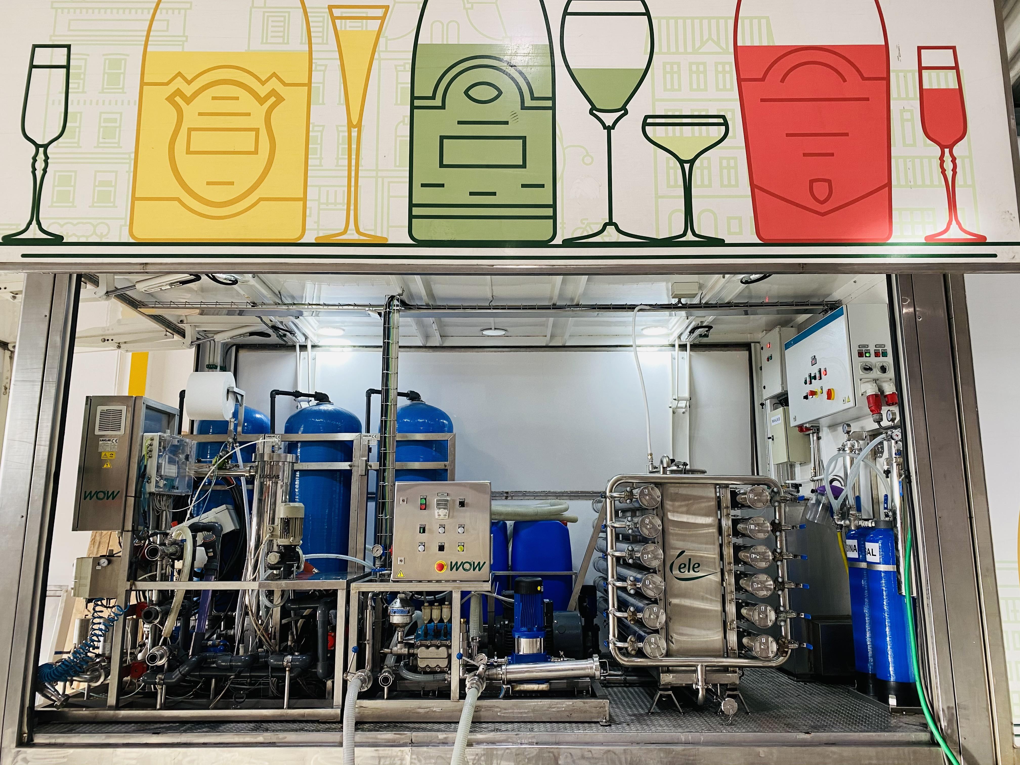 Unidade Móvel Tratamento de Vinhos
